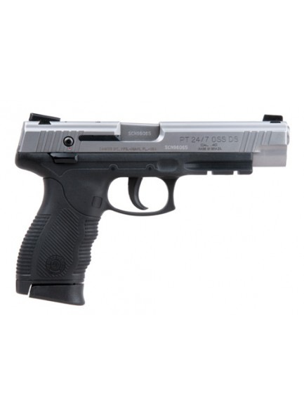 Taurus 24/7 40CAL OSS™ CHECKERED POLYMER GRIP IN STAINLESS